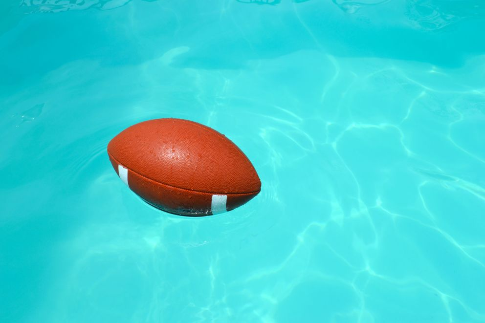 Football in Pool