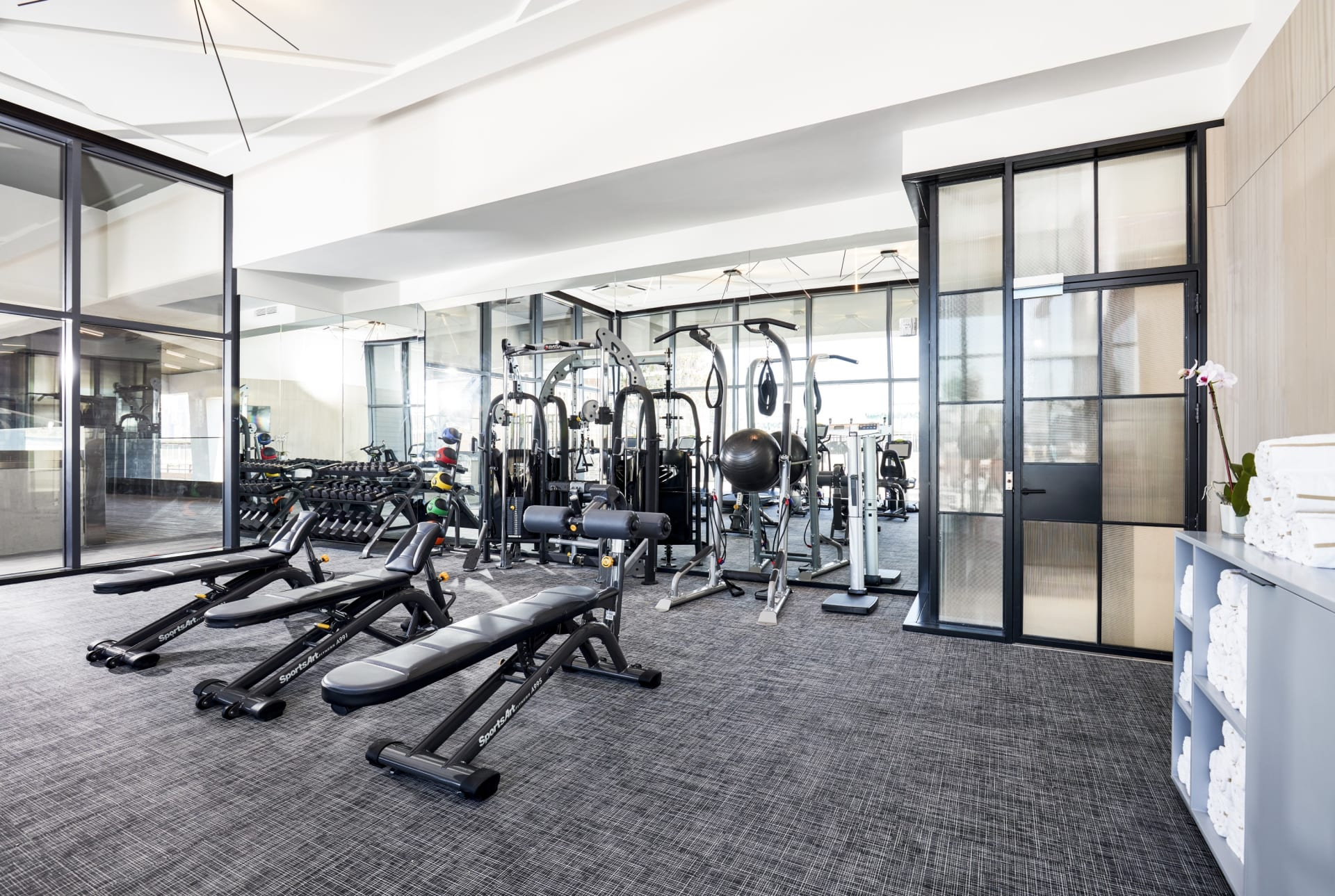 The William Val fitness room
