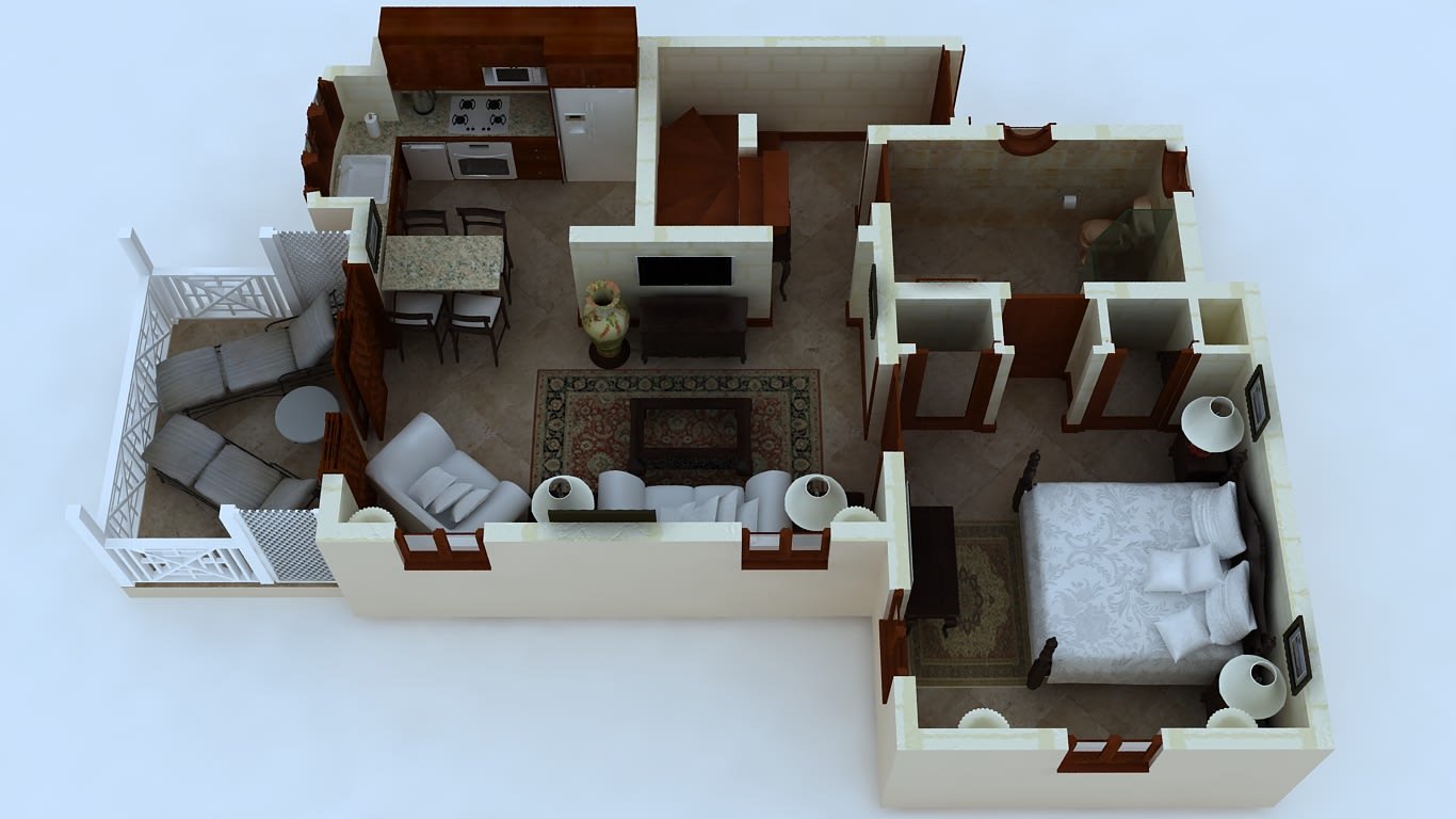 One Bedroom Standard Suite Floor Plan
