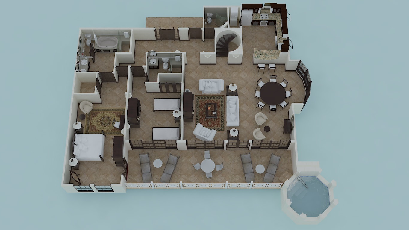 Two Bedroom Penthouse Suite with Plunge Pool Floor Plan
