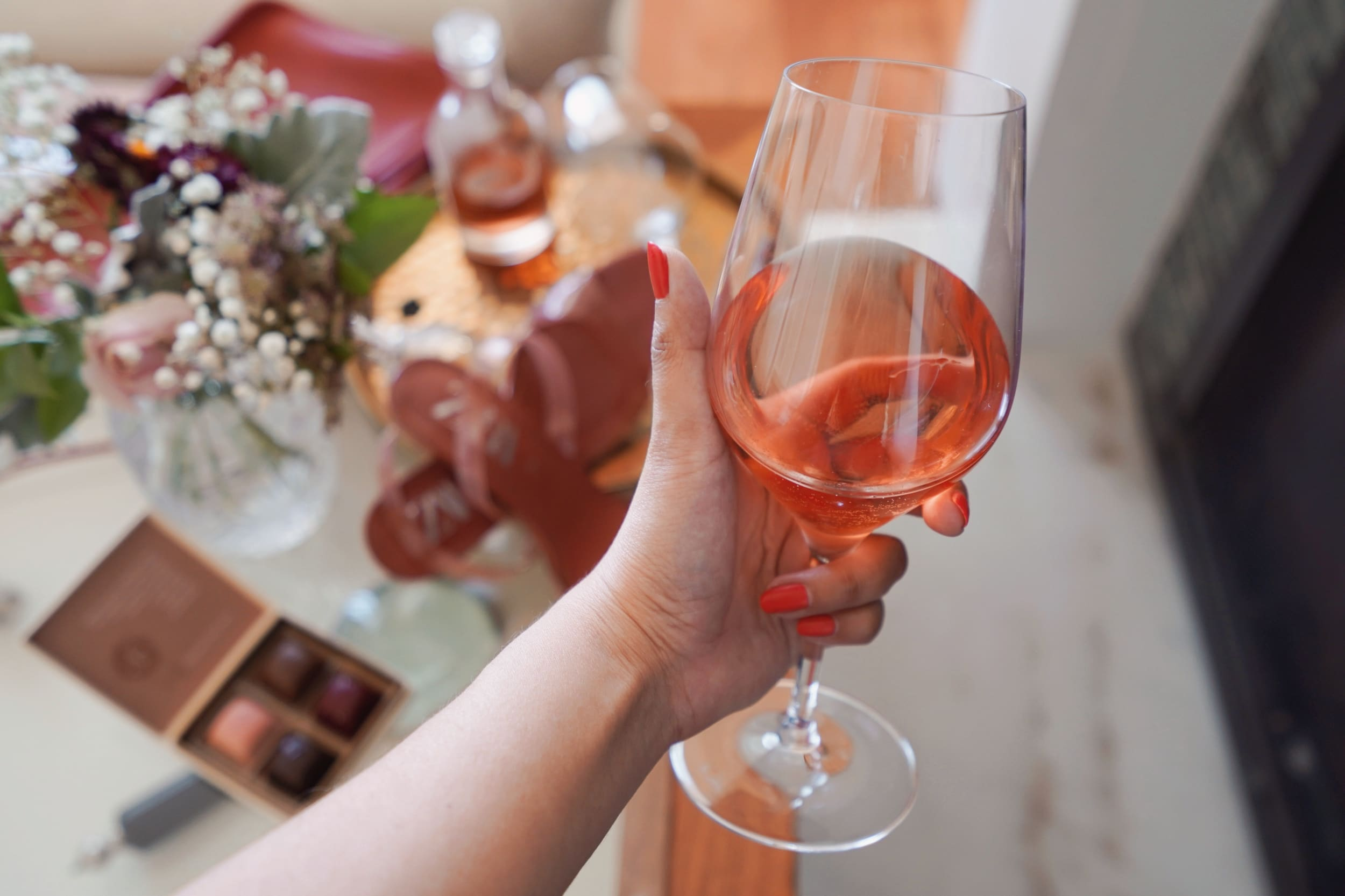 Rose Wine in a glass