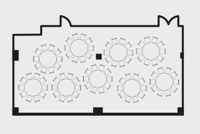 The Salon floorplan