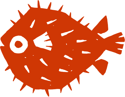 orange blowfish