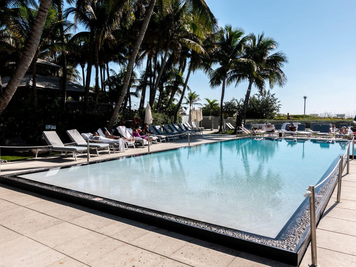 The pool at The Sagamore Hotel South Beach