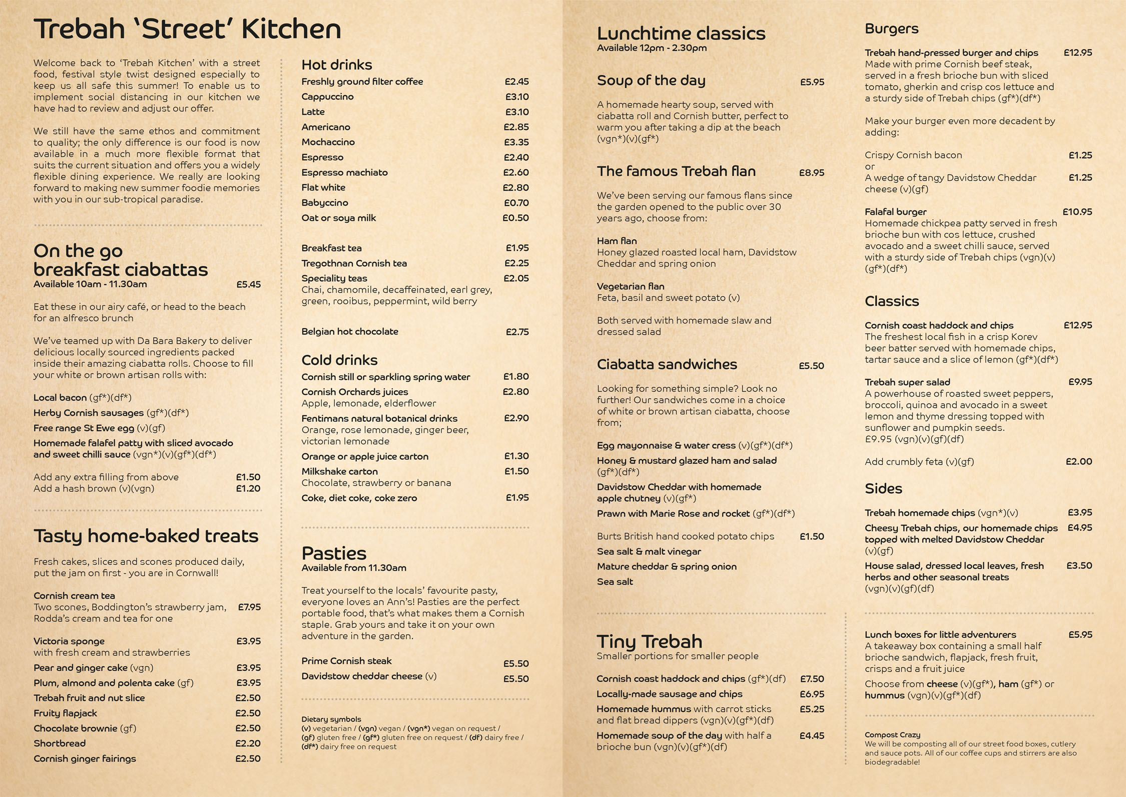 Trebah 'Street' Kitchen Menu