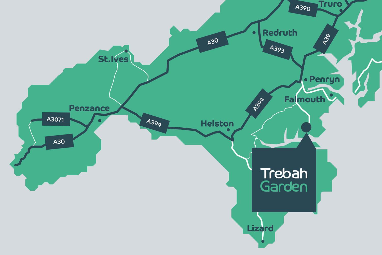 Map of Trebah Garden