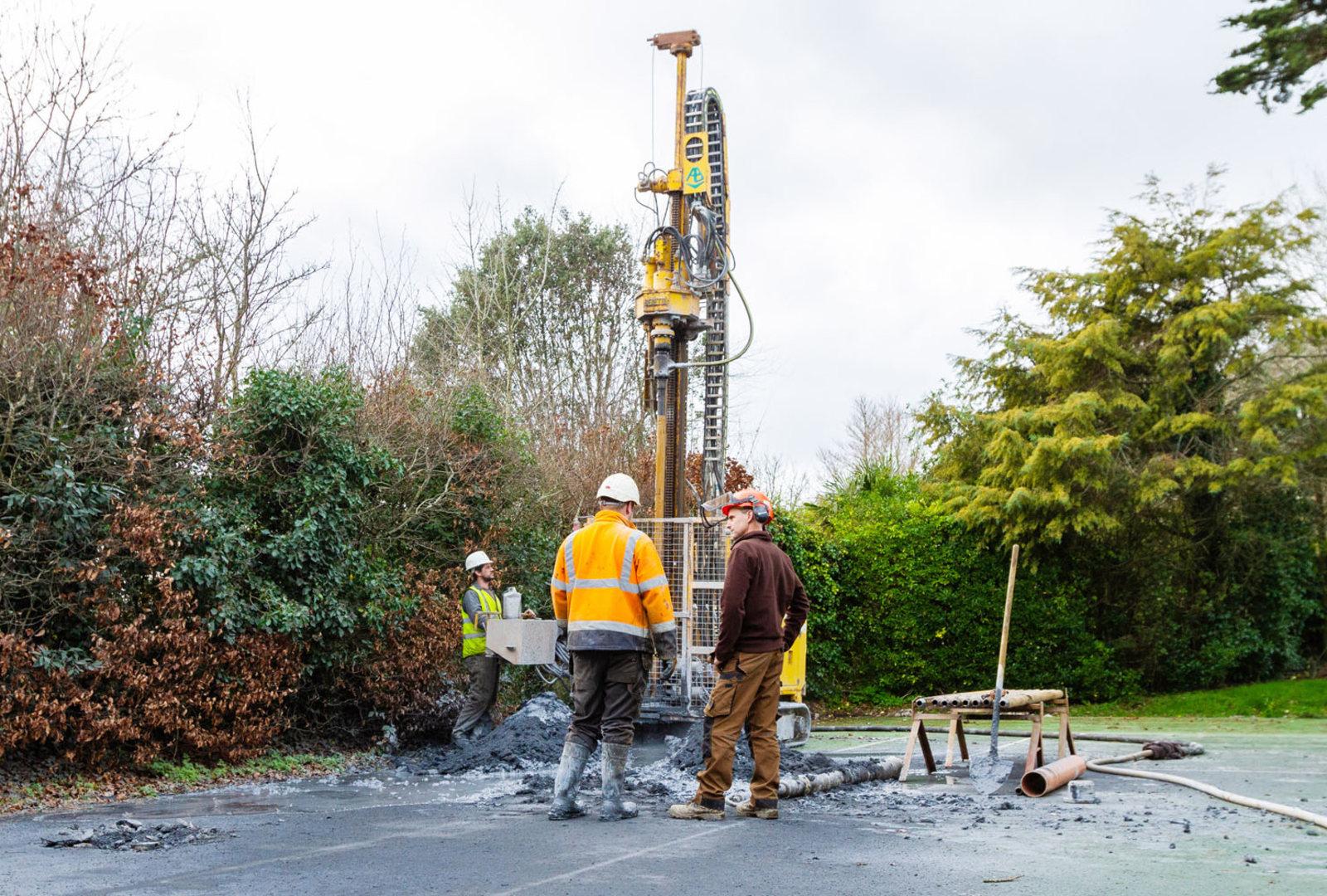 Ground Source Heating installation at trebah