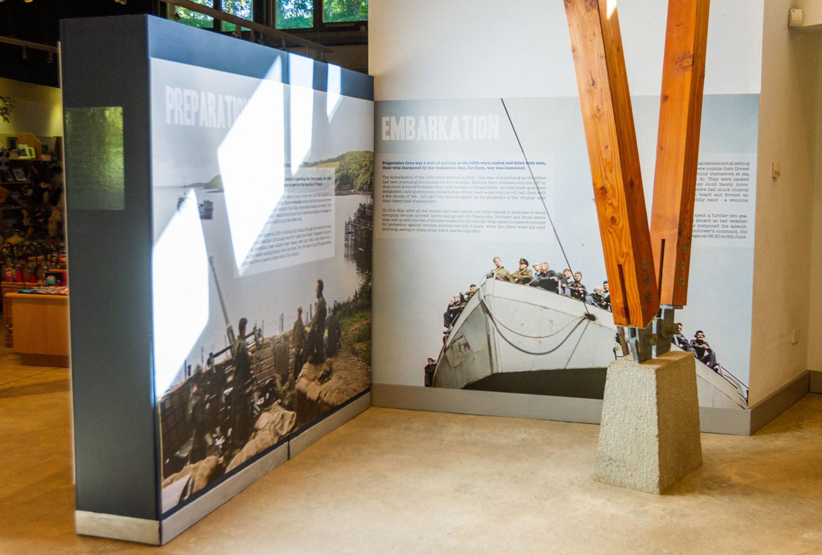 Interpretation displays at trebah