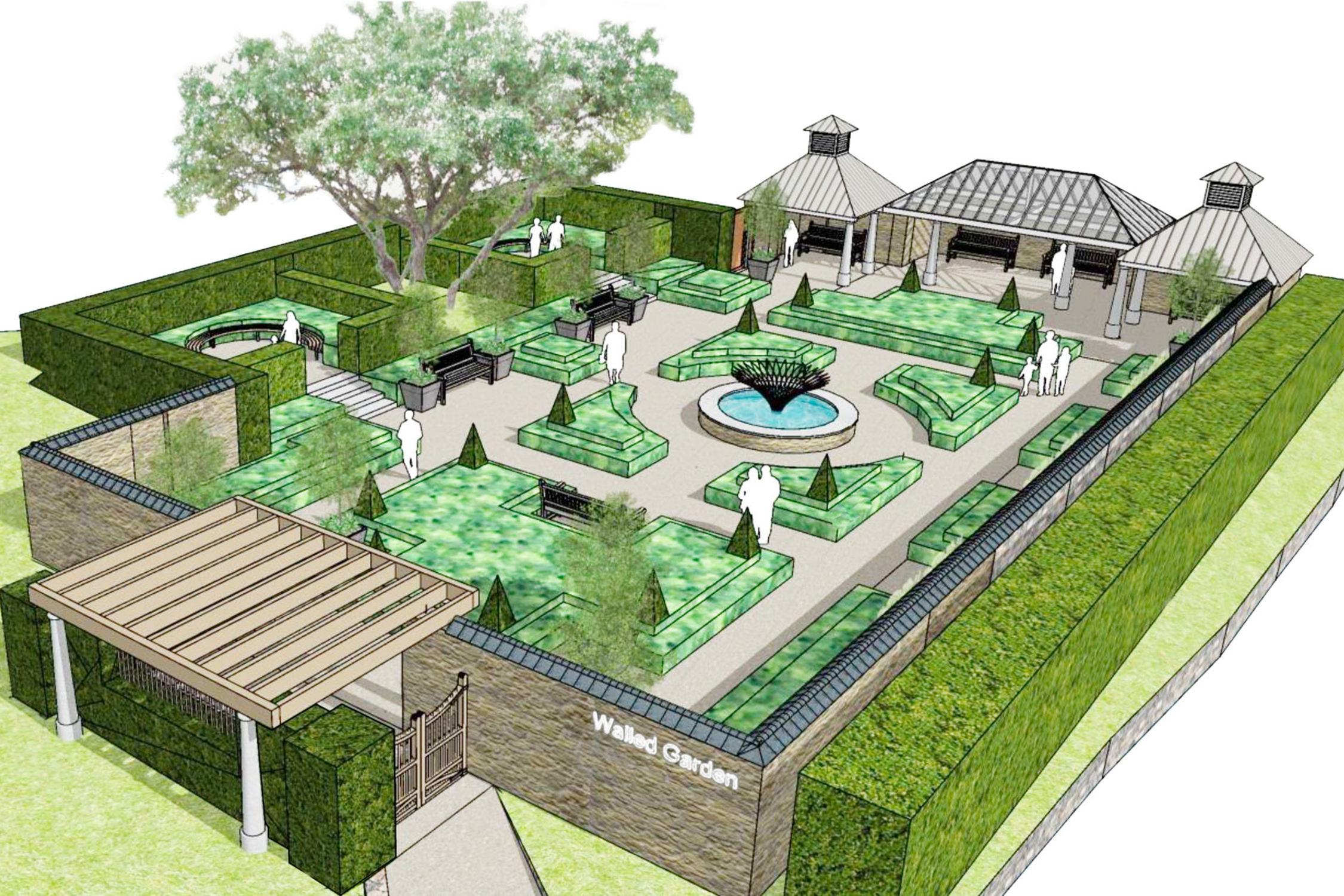 A Walled Garden For Trebah