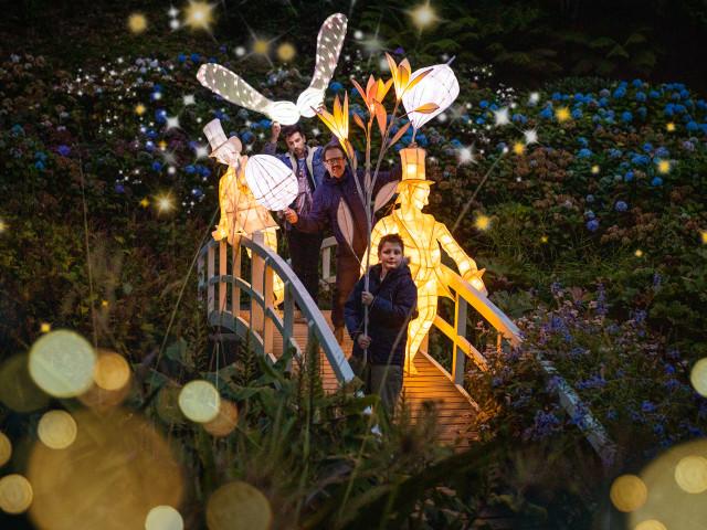 Lanterns at Trebah Garden