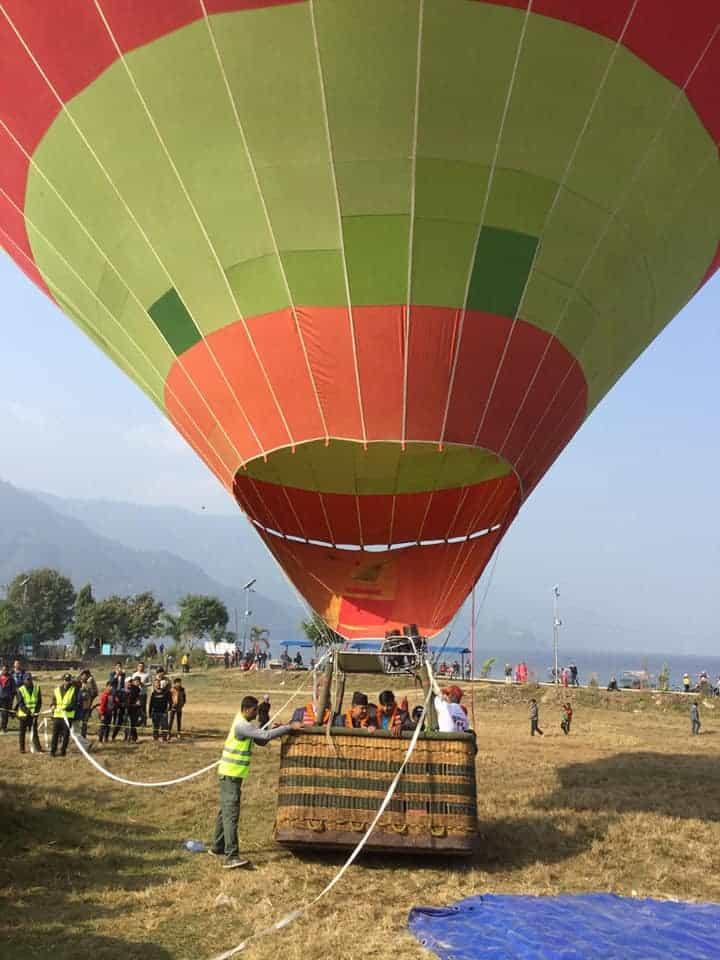 hot baloon pokhara