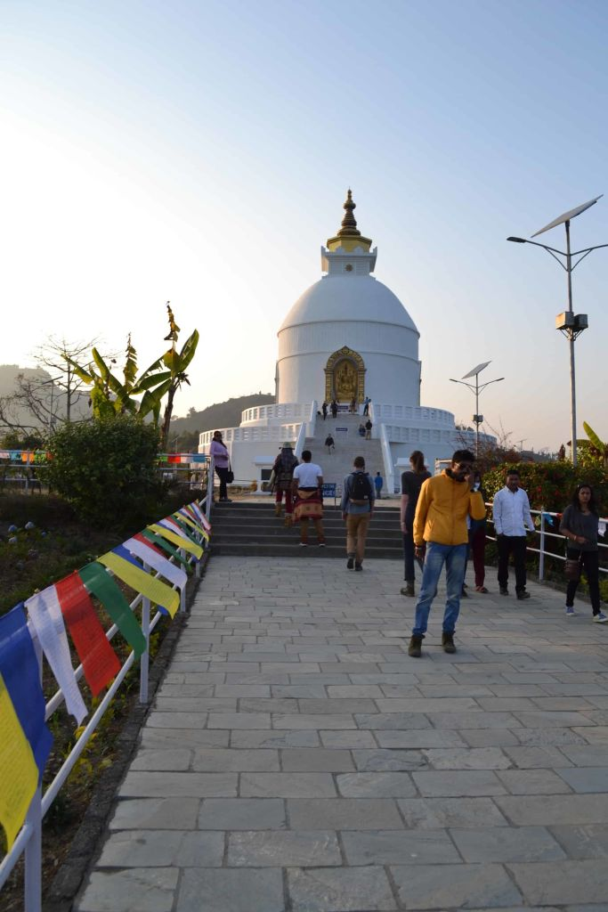 the stupa, pokhara, nepal