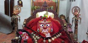Indra Jatra Festival in Kathmandu Valley   Masked Reveler