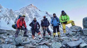 Nirmal Purja, Nims Dai with his team into the Himalayas.