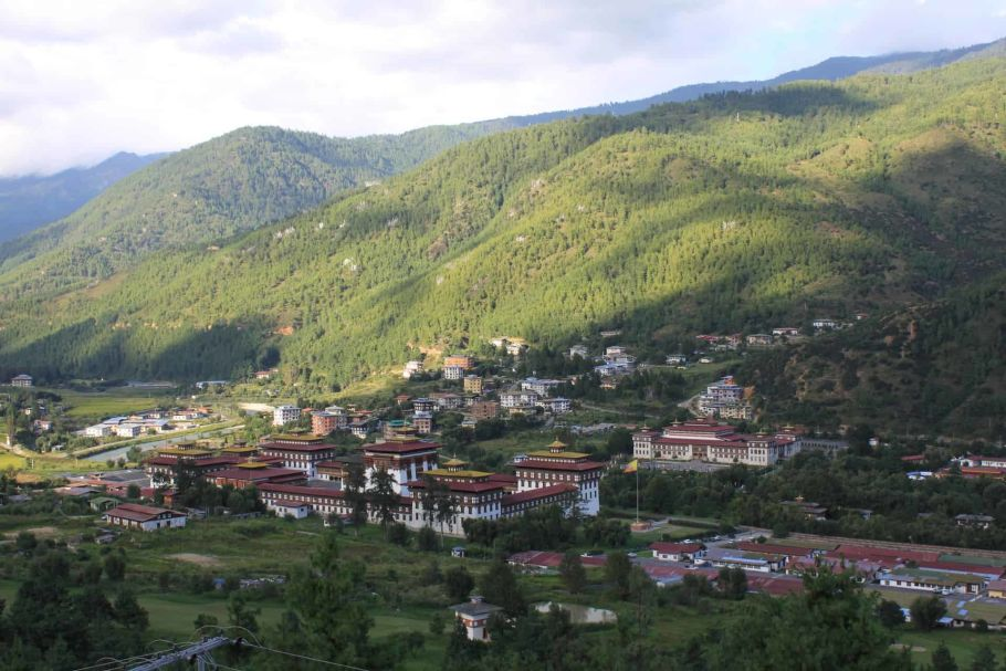 bhutan village view