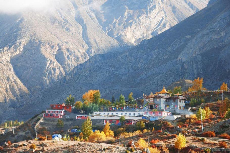 Nepali village of Muktinath