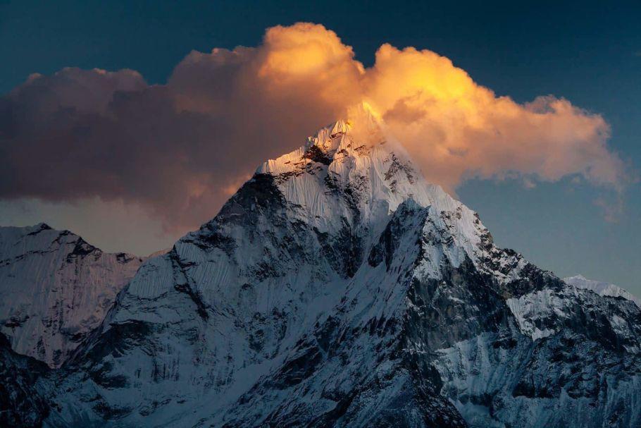 sunrise at annapurna base camp in nepal