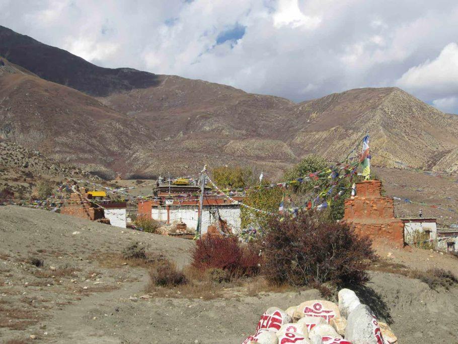 Monastery and Chortens