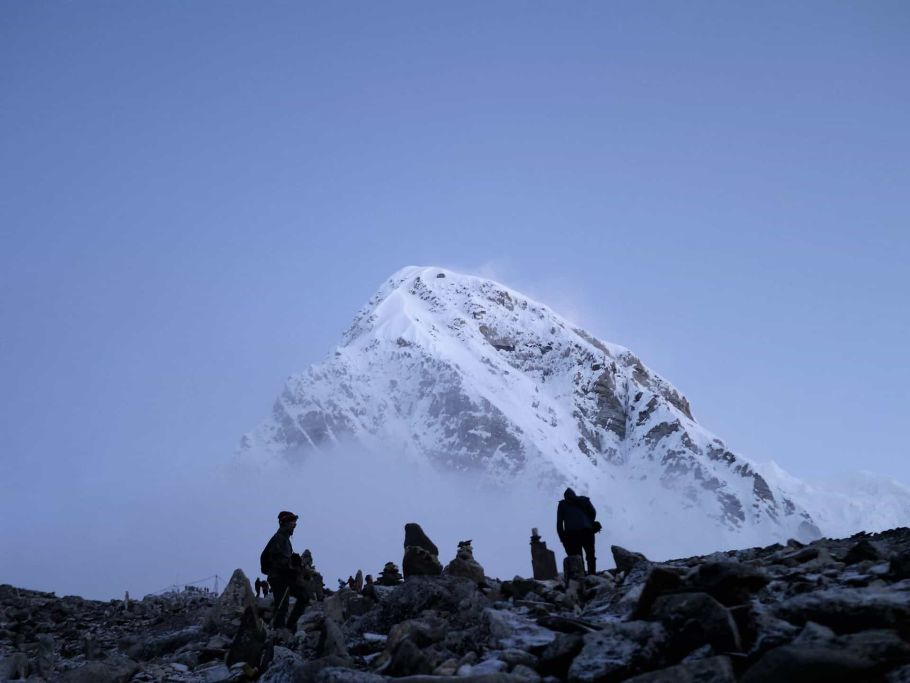 resting at the mount everest