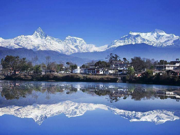 city of lake. pokhara, nepal