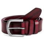 Rich Red Textured Belt
