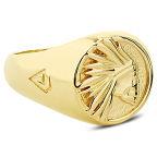 Позлатен сребърен трайбъл пръстен