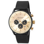 Black Over Gold-Tone Troika Watch