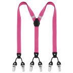 Slim Fuchsia Clip Braces