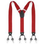 Brede Rode Clip Bretels