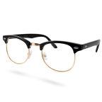 Zwart / Gouden Transparante Vintage Bril