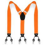 Brede Oranje Clip Bretels