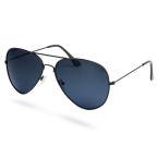 Schwarze Pilotenbrille Mit Getönten Polarisierten Sonnenbrillengläsern
