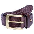 Brown Embossed Texture Belt