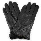 Czarne rękawiczki skórzane Ramo