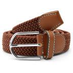 Cinturón elástico marrón