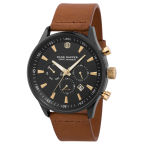Brown, Black & Gold-Tone Accents Troika Watch