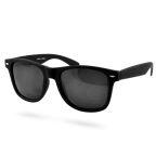 Mattschwarze Retro Sonnenbrille