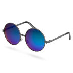 Blue-Green Round Sunglasses