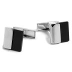Black & Silver Masculine Cufflinks