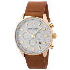 Brown, Gold-Tone & White Troika Watch