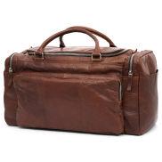 Kasztanowa skórzana torba podróżna Montreal