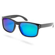 Musta ja sininen neliömäiset aurinkolasit