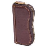 Vintage Bruin Lederen Sleuteletui