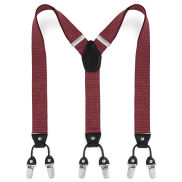 Wide Dotted Burgundy Clip Braces