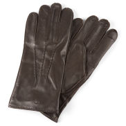 Gants en cuir marron perforé