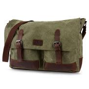 Bolso para el portátil verde y marrón Spencer
