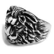 Ατσαλένιο Δαχτυλίδι Male Lion's Head