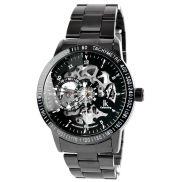Schwarz-silberne Uhr Rolat