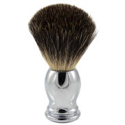 Stål Oval Svart Badger Barberkost