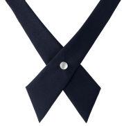 Ciemnogranatowy krawat krzyżowy